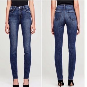 NWT L'AGENCE Melody High Rise Straight Jeans